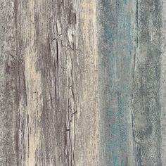 Items similar to Chippy Distressed Weathered Wood Wallpaper - Shabby Rustic Country Cottage, Teal Blue Gray Faux, Coastal Chic - Sold By The Yard 35328 so on Etsy Textured Wallpaper, Wallpaper Roll, Peel And Stick Wallpaper, Teal Wallpaper, Barnwood Wallpaper, Wallpaper Warehouse, Beach Wood, Weathered Wood, Aged Wood