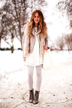 4. Winter White - 10 Fall Fashion Trends for Teenagers ...   All Women Stalk