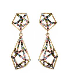 There's no hiding an affinity for finery when this stunning pair is on display. Delightfully modern, it features crystal-encrusted plated brass and an elegant silhouette.