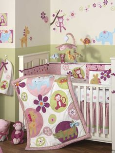 Baby Girl Nurseries - Nursery Ideas. If I ever have another baby and its a girl again, she will have a purple bedroom.