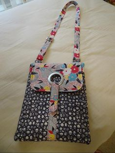 Tech or tablet bag - very easy sew.  Made from the pattern by So Sew Easy