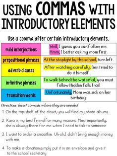 Grade Language Anchor Charts: 37 Charts sizes of each chart! Teaching English Grammar, English Writing Skills, Writing Lessons, Writing Tips, Writing Process, Teaching Themes, Teaching Writing, Writing A Book, Kindergarten Writing