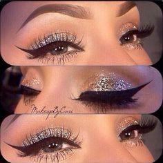 glittery eyes: