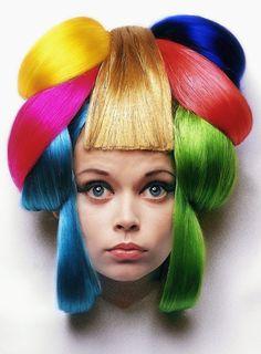 Rainbow colors hair