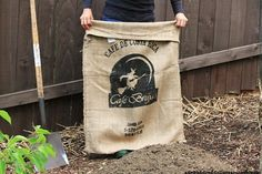 How to plant potatoes in a burlap bag.