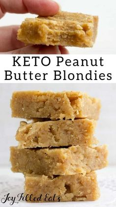 keto dessert White Chocolate Peanut Butter Blondies - Keto, Low Carb, Gluten-Free, THM S - These are just as easy as your favorite brownie or bar recipe but are an exciting choice when yo Desserts Keto, Keto Friendly Desserts, Keto Dessert Easy, Healthy Dessert Recipes, Health Desserts, Keto Snacks, Easy Desserts, Holiday Desserts, Recipes Dinner