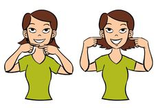 Video: Smile in Baby Sign Language Signing: We sign smile by drawing a smile on both ends of our mouth with both index fingers. Figure: Smile in Baby Sign Language Usage: Teaching our babies about … Hand Sign Language, Simple Sign Language, Sign Language Chart, Sign Language For Kids, Sign Language Phrases, Sign Language Alphabet, Learn Sign Language, American Sign Language, Deaf Sign