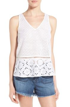 Hinge Eyelet Cotton Tank available at #Nordstrom
