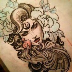 30 Lindas Tatuagens de Bruxa + Significados!