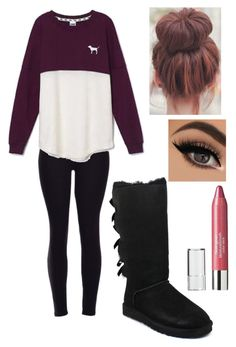 """""""Leggings and uggs❤️❤️"""" by caitlin-z ❤ liked on Polyvore featuring Victoria's Secret, UGG Australia, Neutrogena, women's clothing, women, female, woman, misses and juniors"""