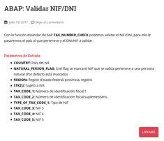 Manual SAP/ABAP para validar NIF/DNI con la función TAX_NUMBER_CHECK Manual, Number, Check, Textbook