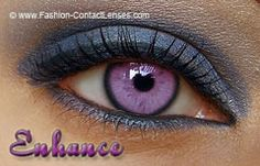 Lilac Enhanced Contact Lenses
