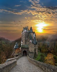 If it's one thing Germany is good at, it's castles. The place is full of them, like this one that goes by the name of Eltz Castle. The cutesy medieval palace of sorts is nestled in a group of charming hills above the Moselle River between the towns of Koblenz and Trier. Cool fact time: the fairytale castle is still owned by a branch of the same family that lived there back in the 12th century. That's 33 generations ago! 🇩🇪🏰👸 #Burgeltz #castlelife #germanytourism #fairytales . . Thanks…