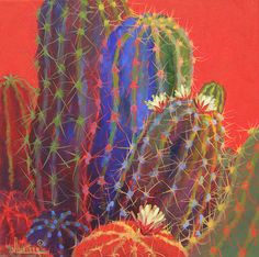 Artwork by Sharon Weiser Native American and Southwest Art and Jewelry ? Cactus Drawing, Cactus Painting, Watercolor Cactus, Cactus Art, Watercolor Art, Cactus Pictures, Cactus Pics, Tableau Pop Art, Southwestern Art