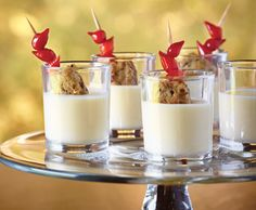Creamy Arla Dofino Havarti 'Shooters' #appetizer #recipe Appetizer Recipes, Appetizers, Holiday Recipes, Christmas Holidays, Panna Cotta, Ethnic Recipes, Food, Christmas Vacation, Dulce De Leche