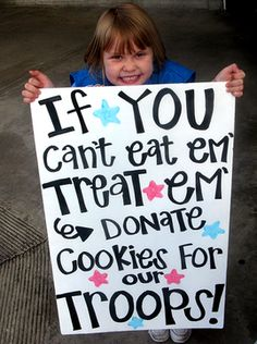 cute sign for a girl scout cookie booth