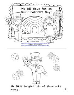 FREE St. Patrick's Day guided reading book with 3 versions:  easier, more difficult, & with lines so students can write their own story!  PreK to 3rd.