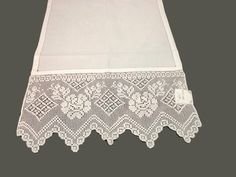 Filet Crochet Charts, Crochet Lace, Crochet Roses, Crochet Projects, Lace Shorts, Diy And Crafts, Pictures, Dining Table Runners, Crochet Edgings
