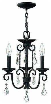 3503OL Casa Mini Chandelier, Olde Black traditional-chandeliers $299