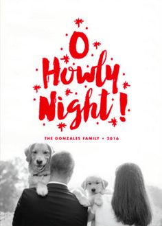Pet Holiday Cards with the family by Minted artist, Paper and Parcel. Customized by you on Minted.