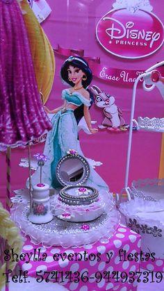Jazmín, princesa, centro de mesa