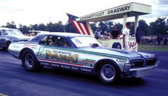 The Panic Cougar was one of a couple of funny cars out of Brooklyn, New York. The Cougar ran out of the Sid's Automotive Shop and driven by Joel Kimmerman (better known as Joel Kim).