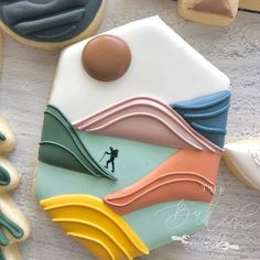 Cut Out Cookies, Iced Cookies, Royal Icing Cookies, Fun Cookies, Cupcake Cookies, Decorated Cookies, Cupcakes, Cookie Designs, Cookie Ideas