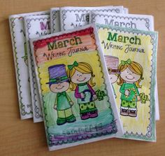Getting More Writing In! Printable writing journals for each month.