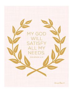Philipians 4:19 Print Scripture Bible Verse by loveandgraceco