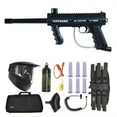 Tippmann 98 Custom PS Ultra Paintball Marker Gun 3Skull Sniper Set. Available at UltimatePaintball.com