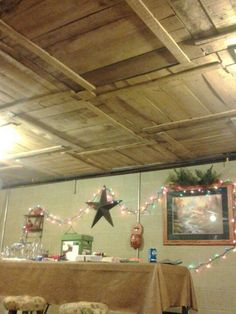 DIY Basement Ceiling with Old Pallet Crate Lids - 20  Cool Basement Ceiling Ideas, http://hative.com/cool-basement-ceiling-ideas/,