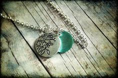 PCOS and conception advice.  http://pcos-and-pregnancy.com/ PCOS Teal Awareness Necklace 063