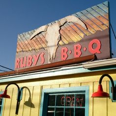"""Ruby's BBQ - http://rubysbbq.com/.  I would pair this with a tour of UT campus, where you'll see lots of """"scenery"""".  Take a walk on the """"drag"""" on Guadalupe and W 22nd area.  Walk to the Tower."""