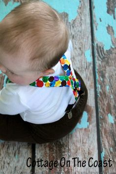 Baby Suspenders--Color Dots Little Boy Suspenders--First Birthday, Caterpillars, Photography Prop. $15.00, via Etsy.