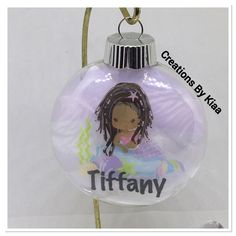 Check out this Black Girl Magic Mermaid Ornament - African American Mermaid Ornament- Black Mermaid Ornaments Mermaid Ornament, Black Mermaid, Black Girl Magic, Christmas Bulbs, African, Website, Holiday Decor, Unique Jewelry, Handmade Gifts