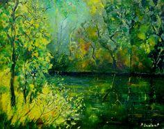 Pond Painting by Pol Ledent
