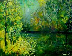 Pond Painting by Pol Ledent