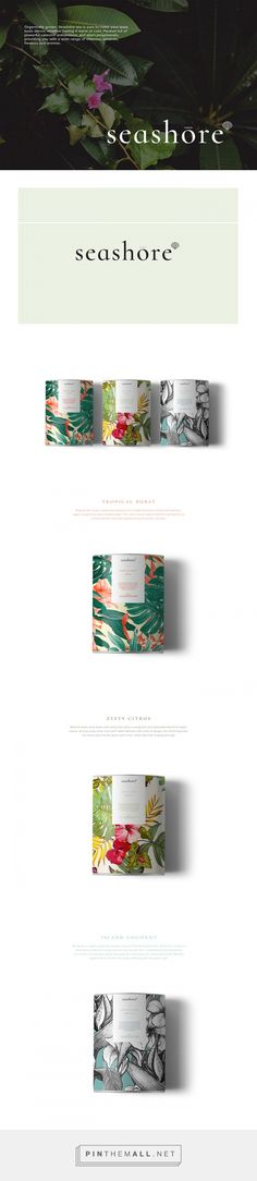 Seashore tea by Brenda Lee. Source: Daily Package Design Inspiration. Pin curated by #SFields99 #packaging #design