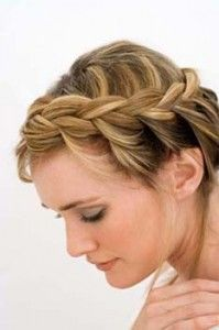 French braid for short hair