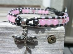 Handmade Gemstone Bracelet  Cotton Candy in by OffOnAWhimJewelry, $22.80