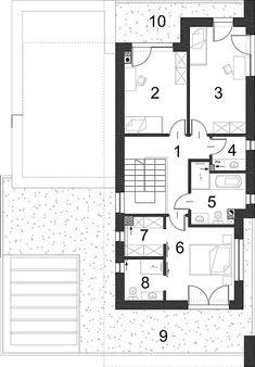 Rzut piętra projektu Kubiczny D30