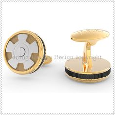 •The Brand cufflinks in gold color, make it noble and stylish. •Nice choice as a gifts to the men who you love. •8 colors for choose, Silver, gold, rose-gold, black color  and …. for optional. •The foot can with your logo and brand.
