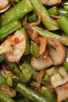 Green Beans and Portobello Mushroom Saute Recipe