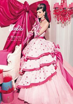 Pink Barbie Girl discovered by Marfinda Sinungan Barbie Bridal, Barbie Wedding Dress, Barbie Dress, Iconic Dresses, Nice Dresses, Floral Dresses, Beautiful Costumes, Beautiful Gowns, Cinderella