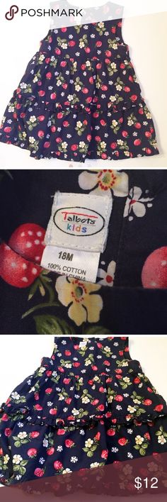 Talbots Kids Strawberry Dress sz 18 months Talbots Kids Strawberry dress. Size 18 months. Put it over turtleneck or long sleeve and it's perfect for fall. Talbots Dresses Casual