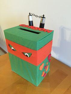 Teenage Mutant Ninja Turtle Valentine Box #TMNT #turtle #valentine // & Superhero Valentine Box | Kiddo Fun | Pinterest | Superhero Box and ...