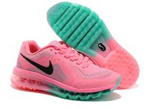 Womens Nike Air Max 2014 Pink Black Blue Shoes #Lovely #pink #products cheap nike shoes