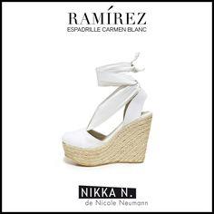 Espadrilles Ramirez Nikka verano 2015 modelo Carmen Blanc disponible en tienda Ramirez Peru 587 y en nuestro Showroom Humboldt 1550 of 111 #ramirez #nikka #crueltyfree #espadrilles #carmen #zapatos