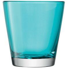 Set of 6 LSA International, Asher tumbler, turquoise