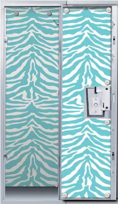 Aqua zebra locker wallpaper